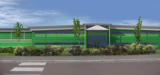 An artist's impression of how the Maelor Poultry building will look