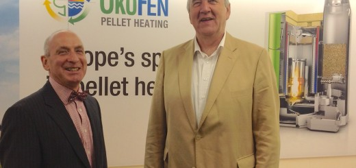 Herbert Ortner at Organic Energy's Welshpool head offices