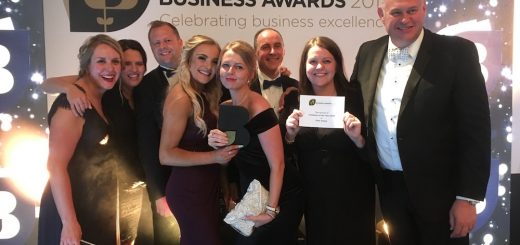 The Pave Aways team celebrate being crowned Company of the Year at the 2019 Shropshire Chamber Business Awards